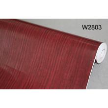 China Película autoadhesiva del grano de madera del PVC, etiqueta engomada de la pared, hoja decorativa