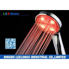 Red LED Rain Shower Head Handheld Shower Without Battery Fo