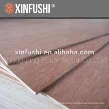 Red color faced Hardwood core plywood