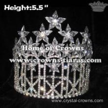 Beauty Big Clear Diamonds Pageant Crowns