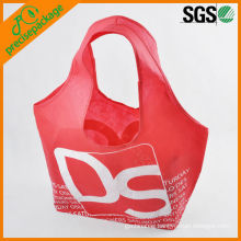 Factory customized promotional eco-friendly 210D nylon solid shopping bag