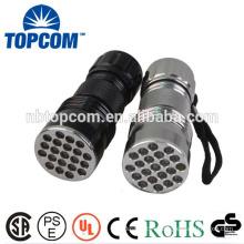 Portable 21 LED Metal Torch Flashlight