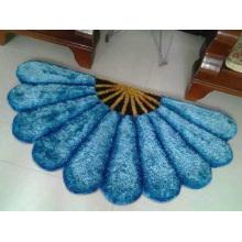New Moren Fan-Shaped 3D Soft Shaggy Silk Carpet Floor Mat