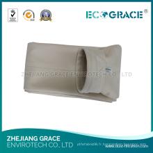 Sac de filtre aramide collecteur de poussière de l'industrie métallurgique