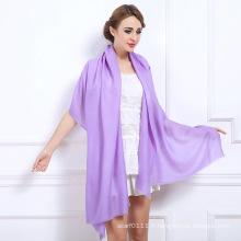 Les femmes de mode plaine couleurs châle de laine d'hiver (YKY4520)