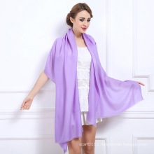 Women Fashion Plain Colors Winter Wool Shawl (YKY4520)