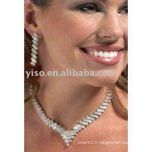 Ensemble de bijoux en cristal de style v