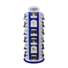 Expositor de acrílico giratório para acessórios eletrônicos para telefones