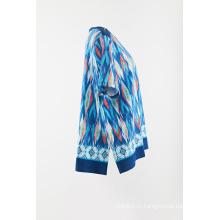 пуловер с коротким рукавом на молнии на плечевом шве