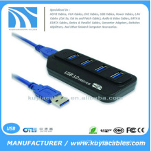 Hochgeschwindigkeits-4-Port USB 3.0 Hub Adapter Led Anzeige für PC Computer