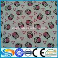 Impressão em tecido de algodão liso para mulheres camisas de flanela