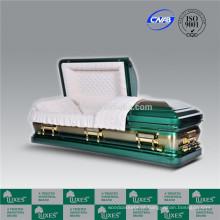 LUXES alto padrão estilo americano 18ga Metal caixão caixão