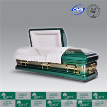 ЛЮКСЫ высокий стандарт американский стиль 18ga металлические шкатулки гроб