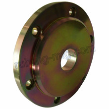 Customized CNC Turning Turned Machining Part Steel Flange with Rainbow Color