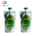 FDAApproved Laminated Flat Bottom Spout Pouch For Juice