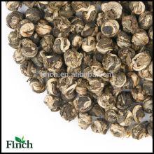 Perle de dragon de jasmin de vente chaude standard de l'UE, thé vert de jasmin Longzhu, boule de thé de jasmin
