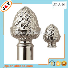 Decorative double corner curtain rod pipe, discount curtain poles in Europe, discount drapery rods from J&T