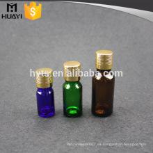 Botella de cristal del aceite esencial del verde azul ambarino de 5ml 10ml 20ml