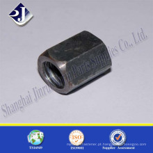 Porca hexagonal longa galvanizada de aço carbono de alta resistência China