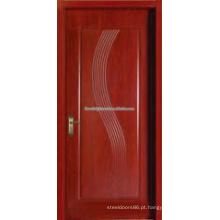 Preço barato de núcleo oco folheado esculpidas portas interiores MDF