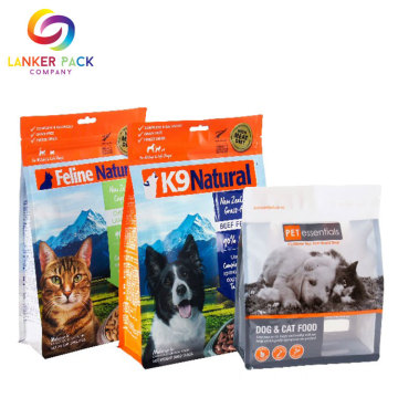 Op maat gemaakte Flat Bottom Pet Food Pouches