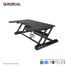 Orizeal motorized sit stand desk, electric height adjustable table (OZ-OSDC006)