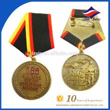 Medalhões de honra de metal duplo 3D de alta qualidade personalizados