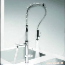 Vertical Pull out Single Handle Kitchen Faucet
