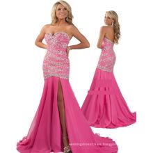 Vestido de fiesta rebordeado pesado del vestido del desfile del trébol rosado con los Rhinestones RO11-22