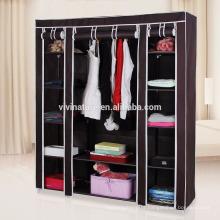 Guarda-roupa portátil do armário do vestuário guarda o organizador não tecido do armazenamento da tela