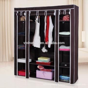 Organisateur portatif de stockage de tissu non tissé de garde-robe de vêtements de placard