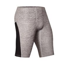 Pantalones cortos de gimnasio medio pantalones de algodón para hombres