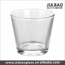 Vela de cristal transparente con 9 onzas