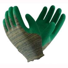 Green 13t Fluoreszenz Latex beschichtete Handschuhe