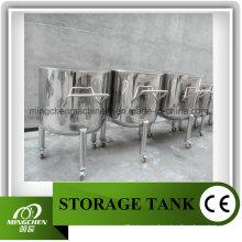 Подвижный резервуар хранения химических реактивов 500 л с открытой крышкой