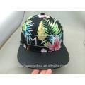 Custom Flower Blätter 3D Stickerei Snapback Caps und Hut
