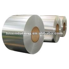 Papel de aluminio lacado blanco aceite lubricado para el envase de la línea aérea
