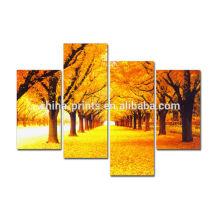 Golden Tree Canvas Oil Painting Model Landscape Artwork