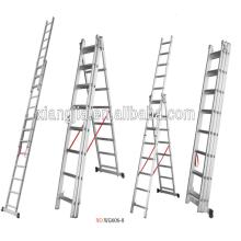 Escalera estupenda de aluminio multiusos de la fábrica de China, escaleras de escaparate decorativas de aluminio del escalador de la escalera de aluminio del grupo de EN131 del grupo de Adto