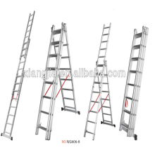 China Factory Multi-purpose Aluminum Super Ladder,Adto group EN131 Aluminium Household Step Ladder decorative wooden ladders