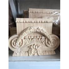 madeira esculpida onlays uso de decoração de casa