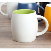 Copos cerâmicos coloridos da caneca cerâmica com logotipo do cliente