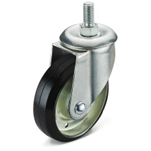The Black Rubber Screw Caster Wheel
