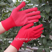 Colorful Polyester Gloves PVC Mini Dots Safety Work Glove