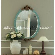 Estilo clássico espelho redondo madeira (2605)