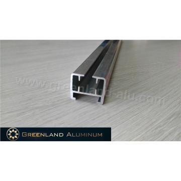 Riel de cortina eléctrico de aluminio de plata pulida gruesa y resistente