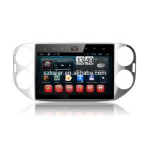 Kaier -factory, Quad core android 4.4.2 car dvd para VW Tiguan + OEM + 1024 * 600 + mirrior link + TPMS