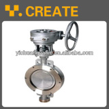 Stainless steel wafer type eccentric butterfly valve