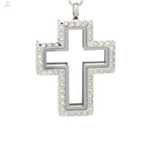 Envío rápido locket del collar de Jesús, colgante cruzado del medallón, medallón del locket del rompecabezas