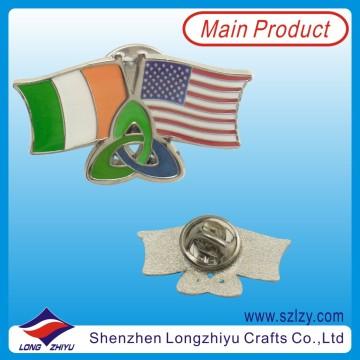 Friendship Country Crossed Flag Hard Enamel Badge (LZY-10000126)